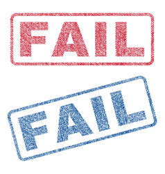 Fail textile stamps vector