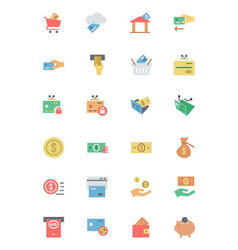 Flat card payment icons 3 vector
