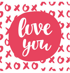 love you concept vector image vector image