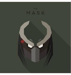 Mask evil alien robot stranger villain with horns vector