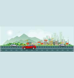 Modern life and urban traffic banner vector
