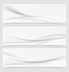 Modern minimalistic grey hi-tech flyer set vector