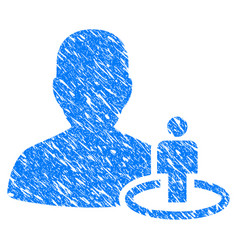 portal moderator grunge icon vector image vector image