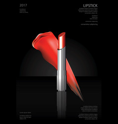 Poster cosmetic lipstick vector