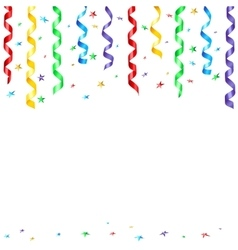 Rainbow streamer vector