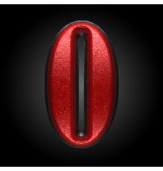 Red plastic figure 0 vector