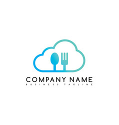 Restaurant cloud exclusive brand company template vector