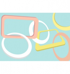 retro shapes and frames vector image vector image