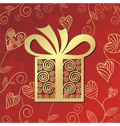 Romantic gift vector image