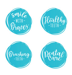 Set of dentistry posters for a dental clinic vector