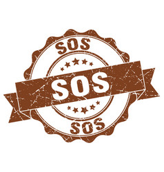 Sos stamp sign seal vector
