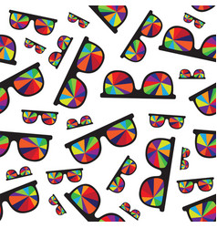 sunglasses with multicolored glasses isolated on vector image vector image