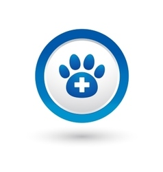 Veterinary icon with paw vector
