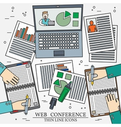 Wibinar web conference concept icon thin line for vector image vector image