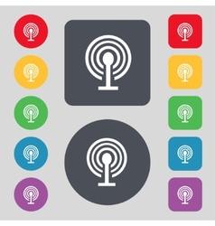 Wifi sign wi-fi symbol wireless network icon zone vector