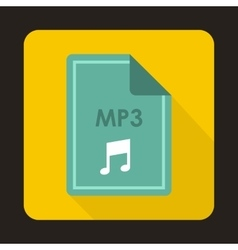 File mp3 icon flat style vector