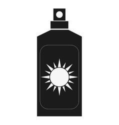 Sunscreen bottle icon vector