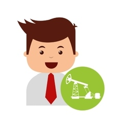 Oil industry business icon vector