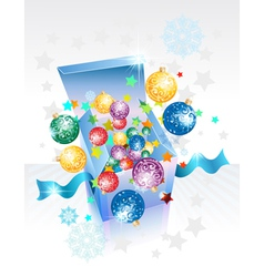 Open explore gift box vector