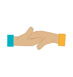 hand shake deal icon vector image
