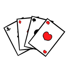 playing cards icon icon cartoon vector image