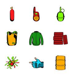ammunition icons set cartoon style vector image