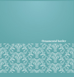 victorian background with ornate border vector image