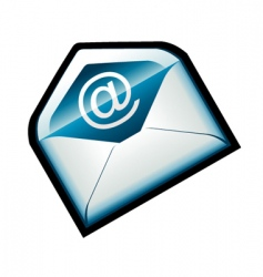 Blue email icon vector
