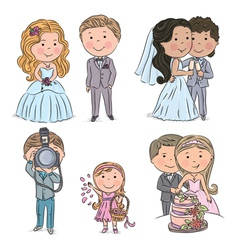 Wedding kids vector