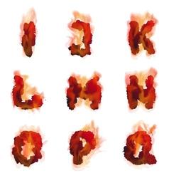 English burning alphabet vector image