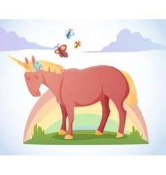 Cartoon magic unicorn vector
