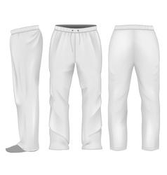 Men sweatpants white vector image
