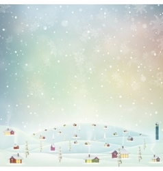 Christmas landscape poster eps 10 vector