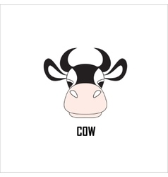 Cow on a white background vector