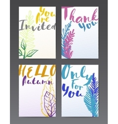 Hand drawn funny postcards vector