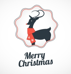 Christmas greeting card with reindeer vector