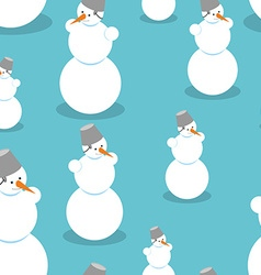 Snowman seamless pattern Background of snow figure vector image