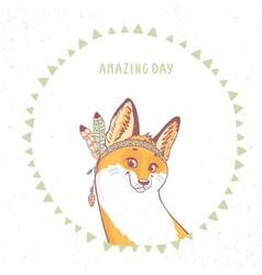 cute funny fox vector image