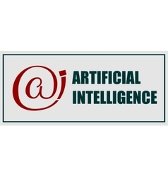 Artificial intelligence emblem vector