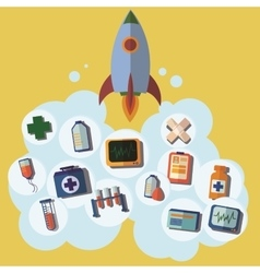 Rocket icon first help emergency medical icons vector