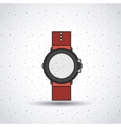 Wristwatch isolated icon design vector