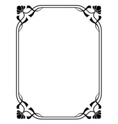 Art nouveau decorative frame vector