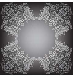 Black background with pattern frame vector