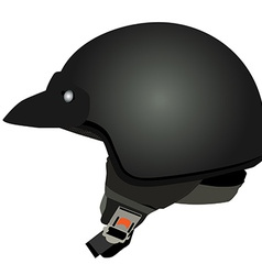 Black police helmet vector