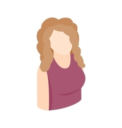 Blond woman icon isometric 3d style vector