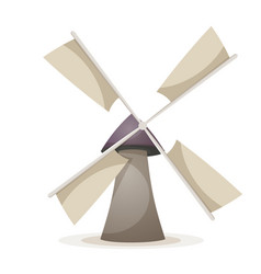 cartoon wind mill vector image vector image