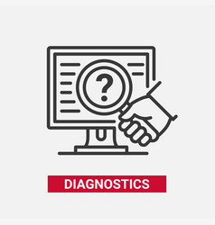 Diagnostics - modern line design single vector