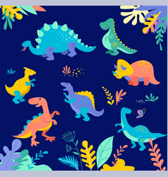dinosaurs collection vector image vector image
