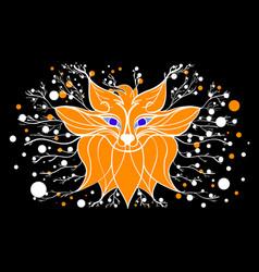 fantastic fox vector image