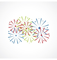 festive fireworks vector image